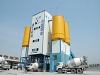 上海华建 HLS300 混凝土搅拌站