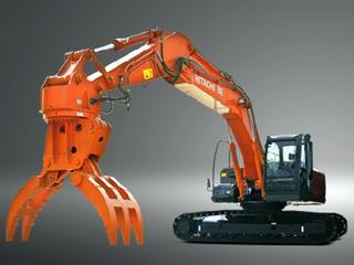 原装日立 ZX240LC-MH-3全回转式叉式抓斗 挖掘机