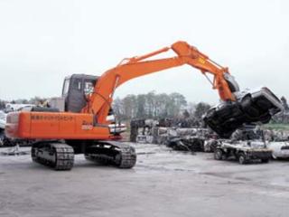 原装日立 ZAXIS120带叉臂的起重磁铁式 挖掘机