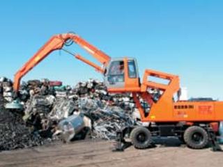 原装日立 ZAXIS210W轮式废铁处理用 挖掘机图片