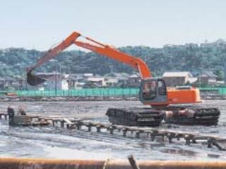 原装日立 MA95泥地 挖掘机