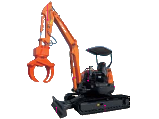 原装日立 ZAXIS35UL后方超小回转型林业用 挖掘机