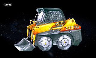 雷道机械 LD7700 滑移装载机