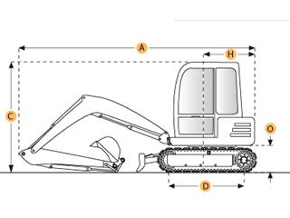 沃尔沃EC15伸缩式履带挖掘机