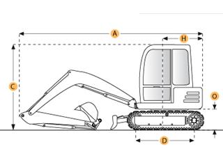 沃尔沃EC20伸缩式履带挖掘机
