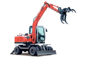 奥邦 AB-85S竹木甘蔗拾装 挖掘机
