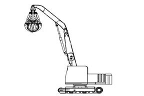 永工 YGZ260履带式液压抓料 挖掘机