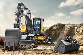沃尔沃 EW205 挖掘机图片