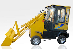 中首重工 加长臂带驾驶室电动 滑移装载机