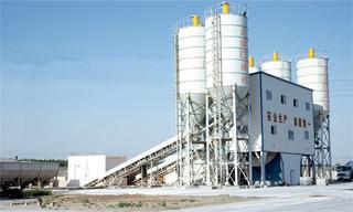 方建建設 HLS120C大傾角 混凝土攪拌站圖片