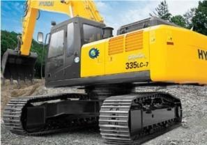 现代R335LC-7挖掘机