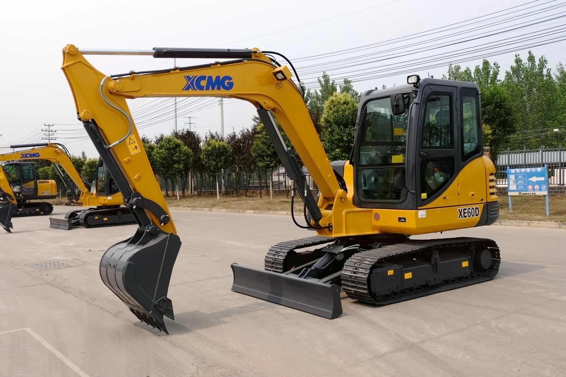 徐工xe60d挖掘机整机外观