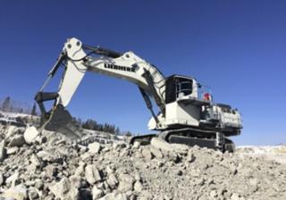 利勃海尔R9150B矿山挖掘机