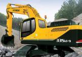 现代R335LC-9挖掘机