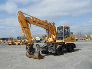 现代R170W-7挖掘机