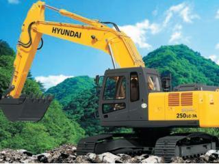 现代R250LC-7A High Chassis挖掘机
