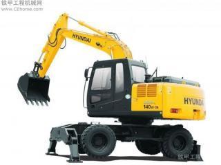 现代R140W-7挖掘机