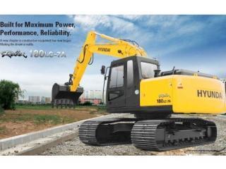 现代R180LC-7A挖掘机