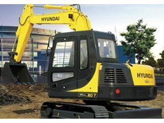 現代 R80-7 挖掘機圖片