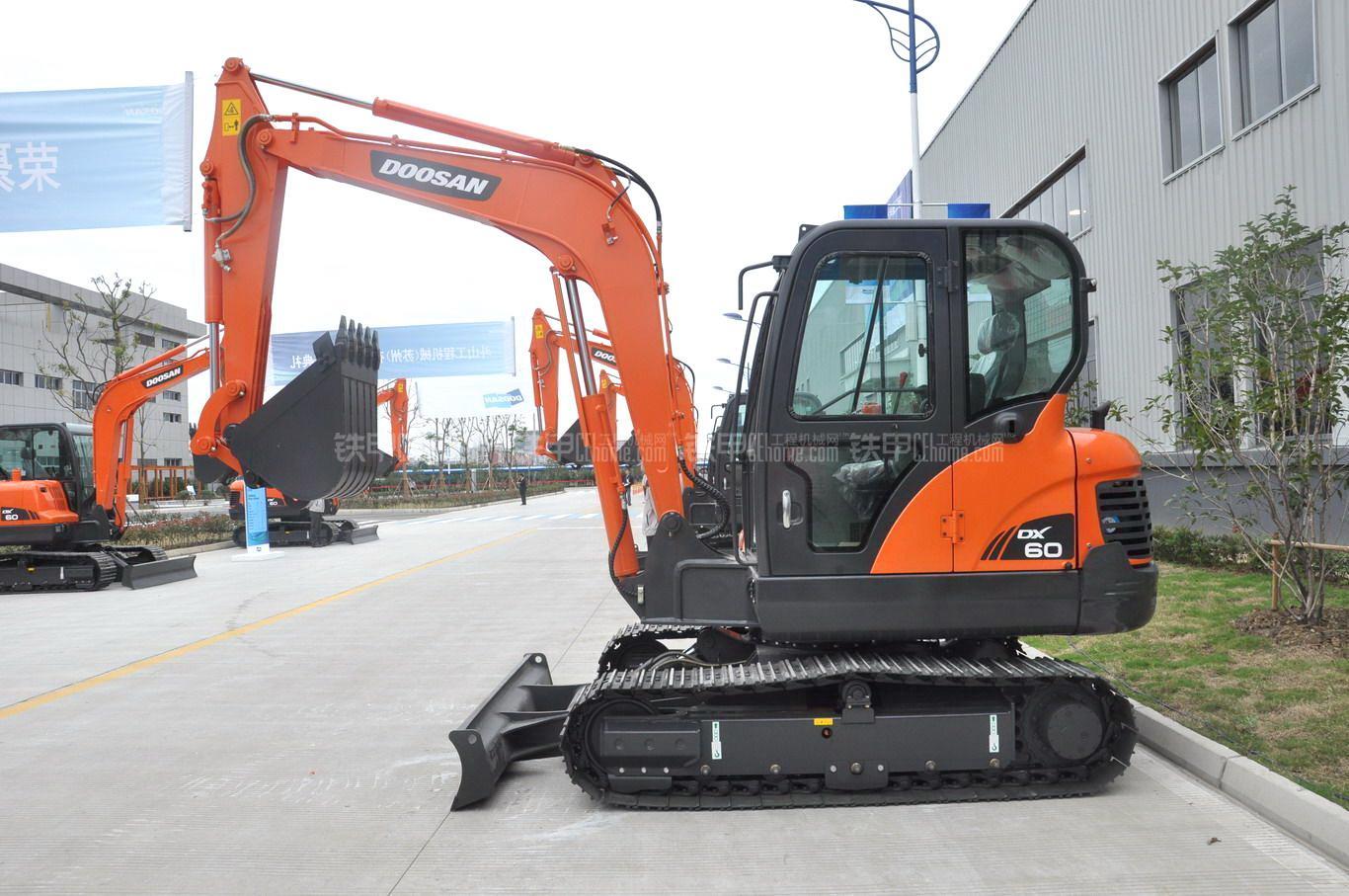 斗山DX60挖掘机整机外观